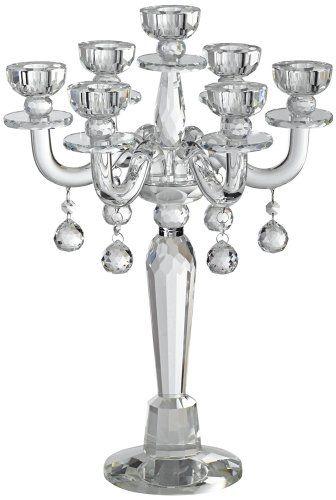 Huntington Crystal Candelabra Taper Candle Holder Dahlia ...