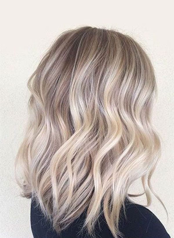 This silvery blonde hair is definitely a unique color even in the blonde shades. You don't usually get it naturally but you can dye your hair in this color. However, it's one of those shades that don't go well with any person