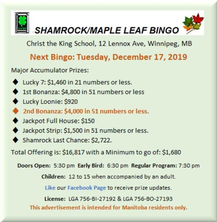 Bingo In Winnipeg