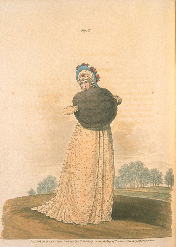 Gallery of fashion January 1796 - Morning dress