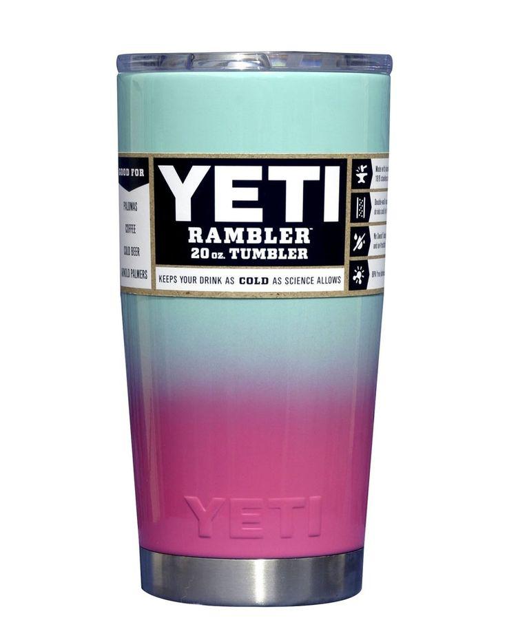 Cotton Candy Custom Powder Coated YETI 20 oz Rambler Tumbler