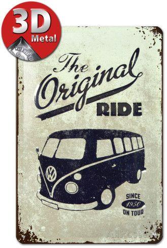 VW The Original Ride Cartel de chapa