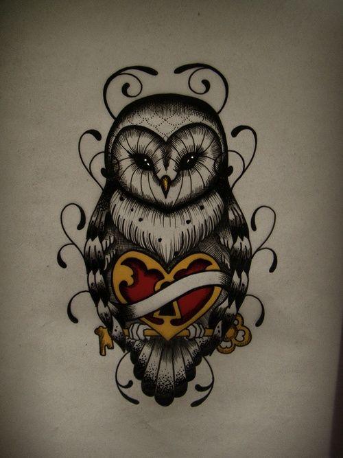 Awesome owl tattoo design. #tattoo #tattoos | http://wonderfultatoos.blogspot.com