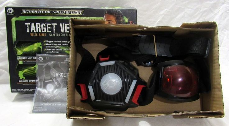 Wowwee Light Strike Target Vest Mint in Package Monitors Health Status #WowWee