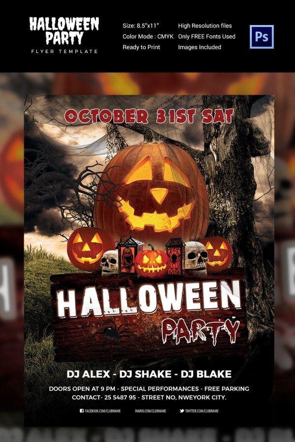 Free Halloween Flyer Templates 68 Halloween Templates