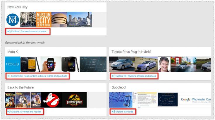 Jakich informacji na temat nowego algorytmu Google - Kolibra może dostarczyć usługa Google Now Topics?