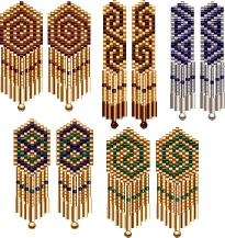 Celtic Earring 5 Pack Peyote Beading Pattern by Cari Buziak at Bead-Patterns.com