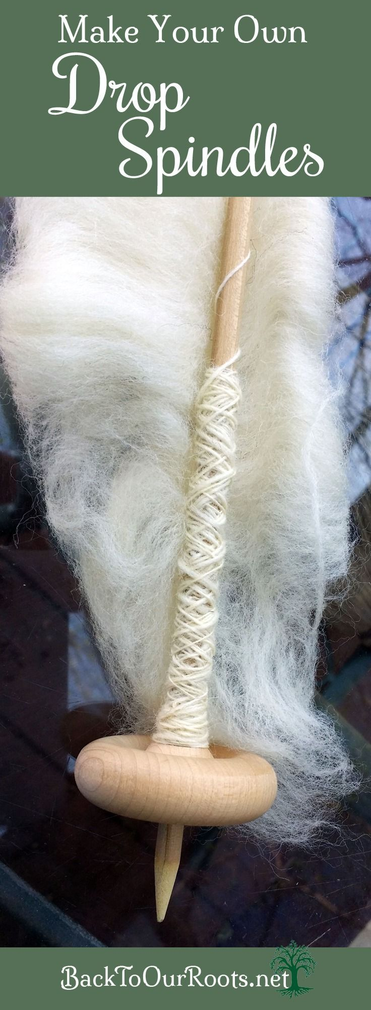 DIY Drop Spindles for Spinning Yarn