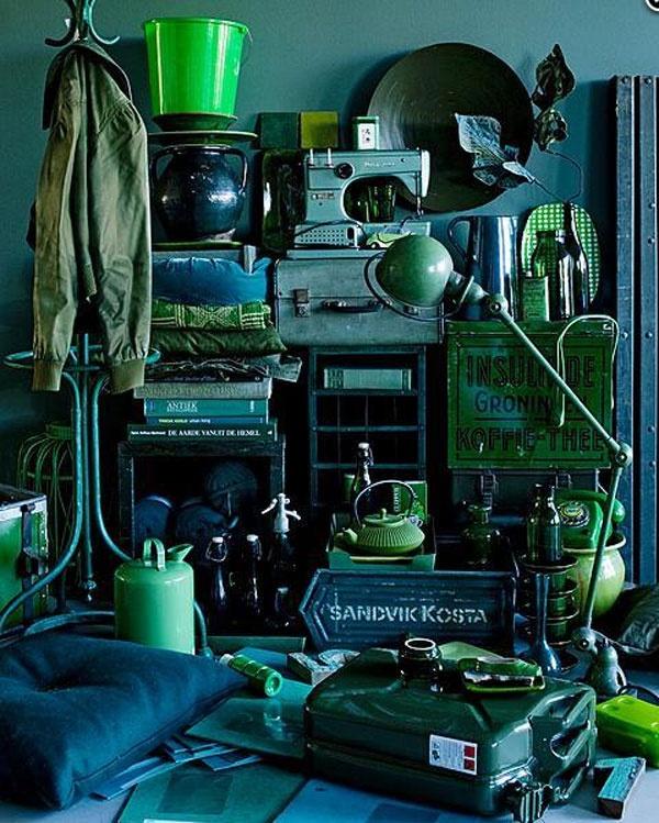 Variations of green (from vtwonen, September 2011. Styling Cleo Scheulderman, Photo Jeroen van der Spek)