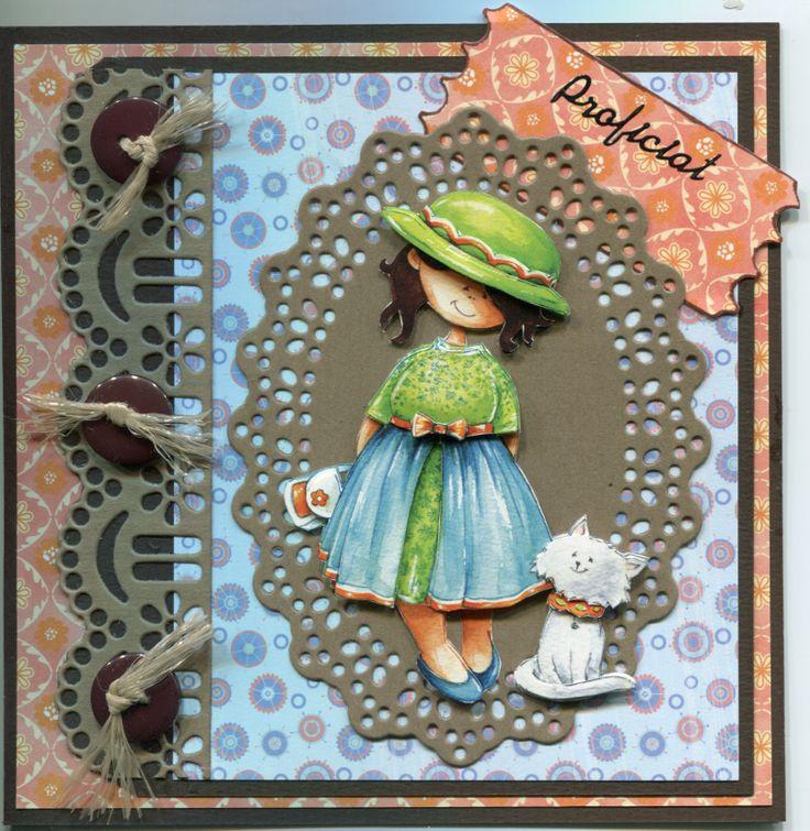 Diy card - Snoesjes - Made by Babs van Dongen