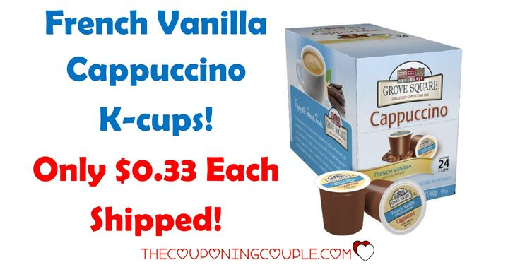"""Grove Square French Vanilla Cappuccino K Cups- Only $0.33 Each Shipped!   Grove Square French Vanilla Cappuccino K Cups- Only $0.33 Each Shipped! [adrotate banner=""""65″]If you use a Keurig Brewer, you are going to love this deal on Grove Square French Vanilla Cappuccino K Cups! Right now, you can get a 24 count box for only $7.86 shipped. That is only...  Click the link below to get all of the details ► http://www.thecouponingcouple.com/grove-square-french-va"""