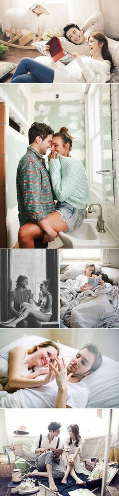 32 Sweet Home Engagement Photo Ideas for Couples - Sweet Moment!