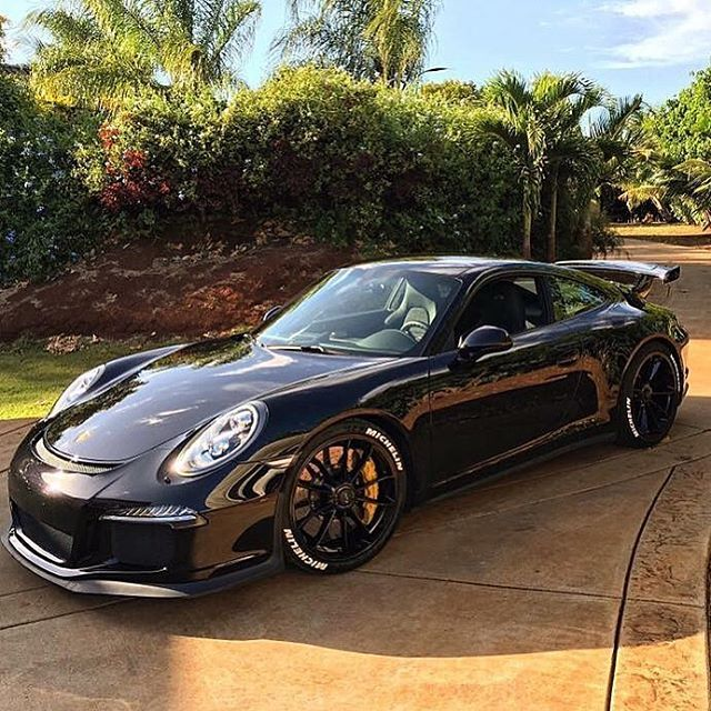 Porsche GT3 with @tirestickers :: Factory pre-lettered tires and DIY kits…