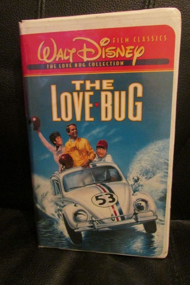 WALT DISNEY  THE LOVE BUG VHS VIDEO BUDDY HACKETT FREE SHIPPING