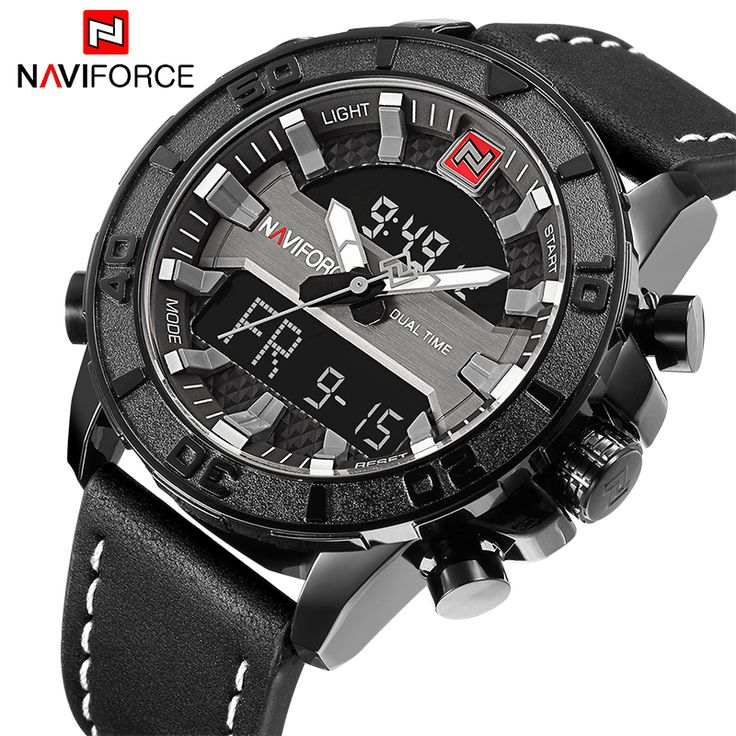 5adc594d1f2 NAVIFORCE Men Sport Watches Luxury Brand Men s Quartz LED Analog Clock Man  Military Waterproof Wrist watch