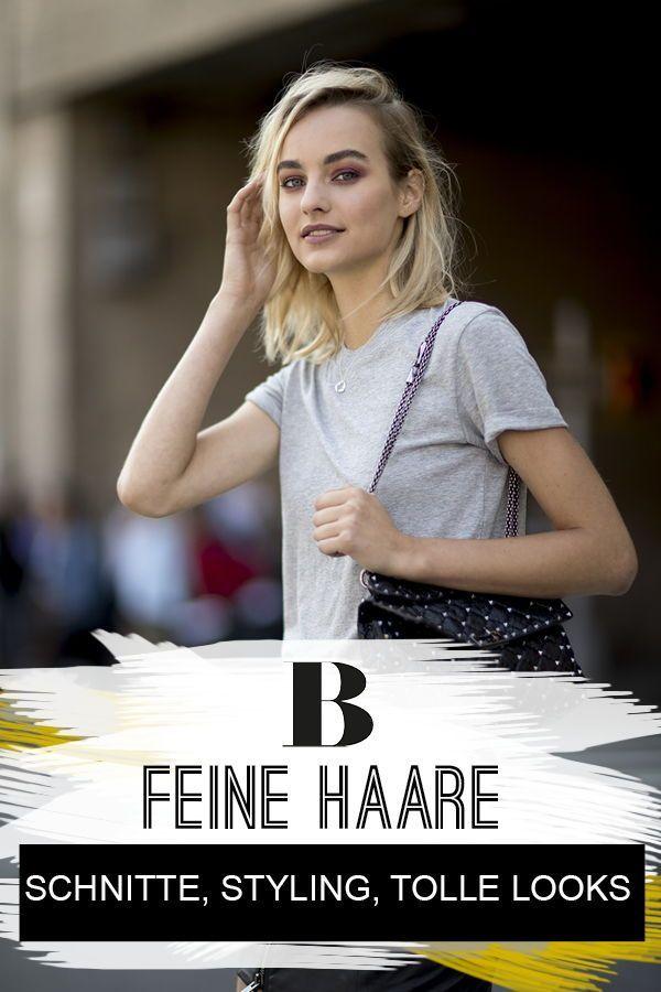 Frisuren Fur Feines Haar Schnitte Styling Tolle Looks Coole
