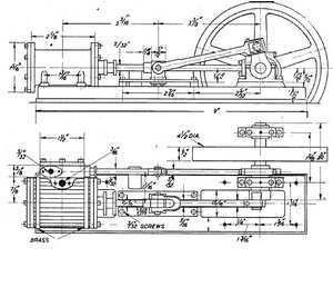 Dampfmaschine, Motor, Bauplan