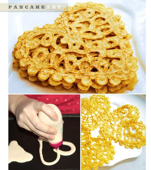 Pancake Doilies / 41 Heart-Shaped DIYs To Actually Get You Excited For Valentine's Day