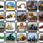 20 2x2 Construction Vehicles picture squares. Print one copy,cut out for flashcards. Print two copies for identical matching task or memory game. F...