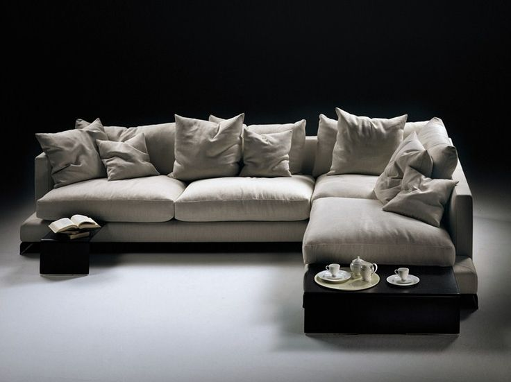 Corner sectional fabric sofa with removable cover LONG ISLAND   Sofa - FLEXFORM