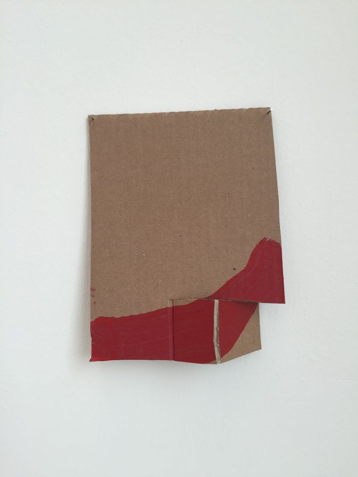 Richard Tuttle Formal Alphabet G other materials, acrylic on corrugated cardboard, steel nails 22.2 × 17.5 cm 2015