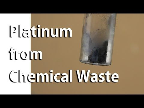 Platinum Recovery from Laboratory Chemical Waste (Pt 2) - YouTube