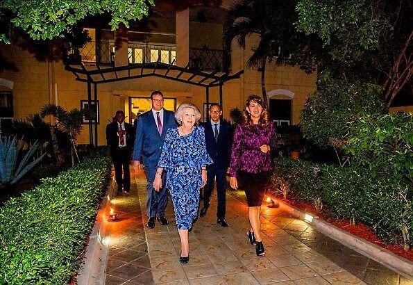 Dutch Princess Beatrix visits Oranjestad,