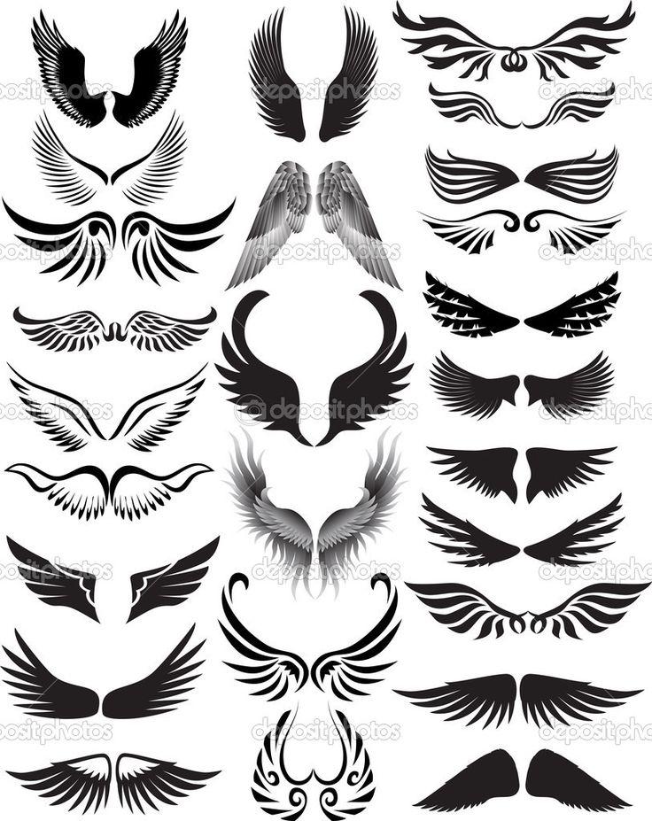 silhouette engel vleugels Google zoeken Silhouet