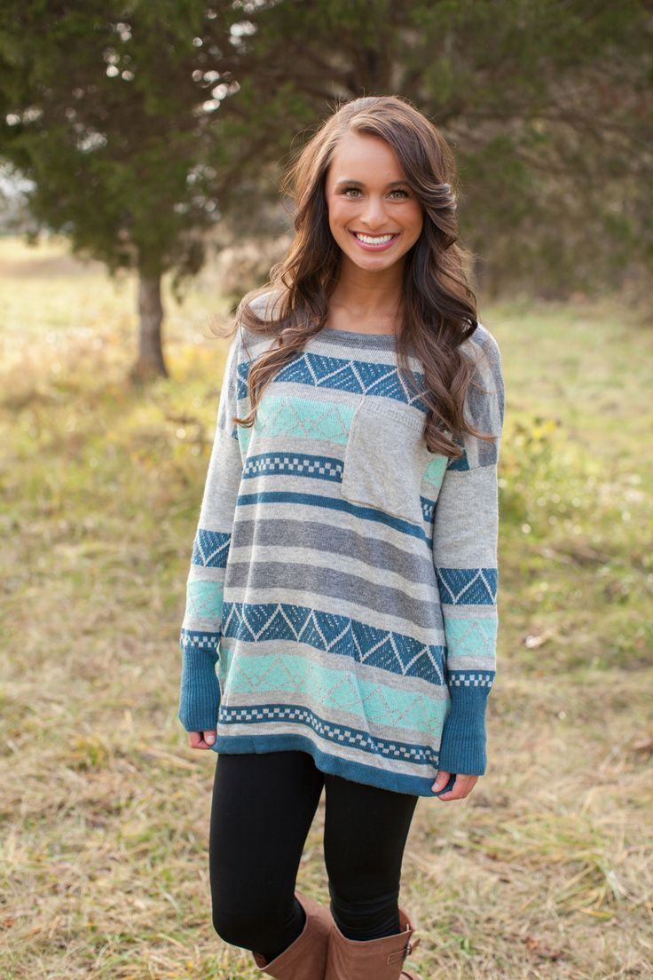Not usually a fan of aztec looking prints, but the fit of this sweater is cute