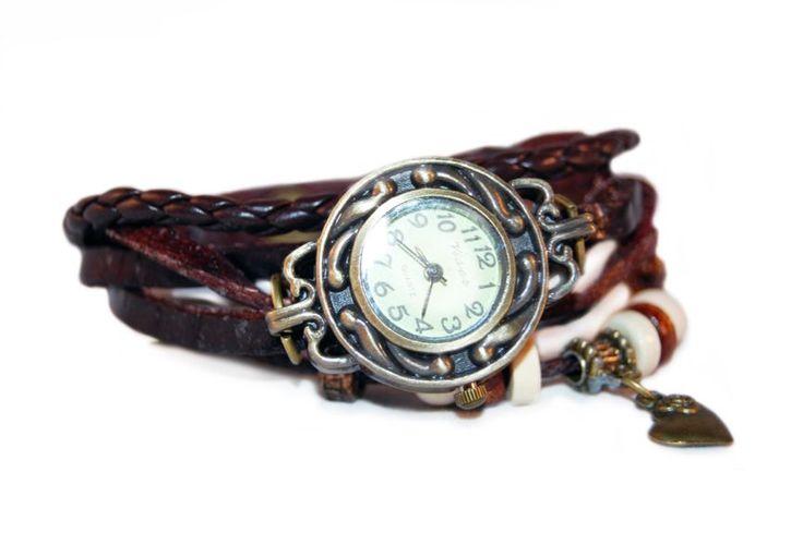 Harten Armband Horloge Bruin http://www.ovstore.nl/nl/harten-armband-horloge-bruin.html
