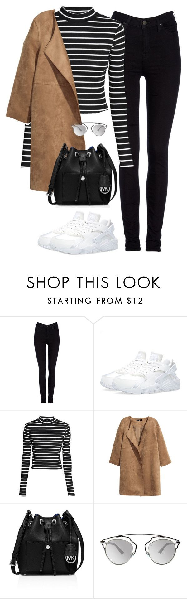 """Untitled #467"" by christyandnef on Polyvore featuring Lee, NIKE, H&M, MICHAEL Michael Kors, Christian Dior, women's clothing, women, female, woman and misses"