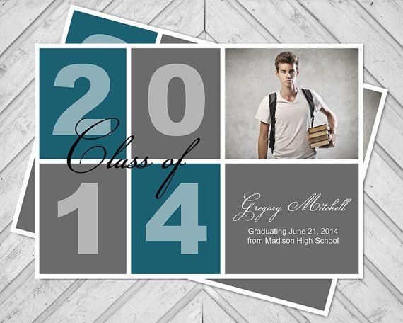 Boys high school graduation announcement - college graduation announcement guys - 2015 graduation photo card - grad announcement (402)