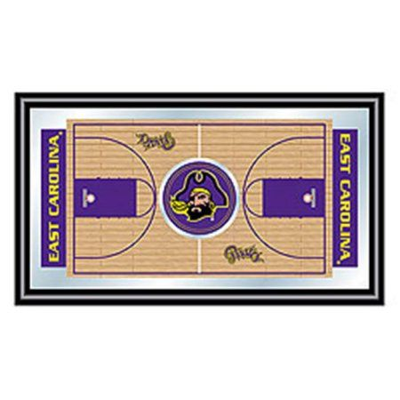 East Carolina University Framed Basketball Court Mirror, Multicolor