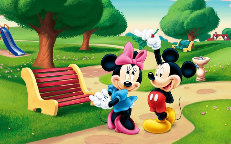 Wallpaper Download 5120x3200 Mickey Mouse and Minnie Mouse in the park. Cartoon and anime wallpaper. download beautiful HD Wallpaper 1080p 2160p UHD 4K HD,