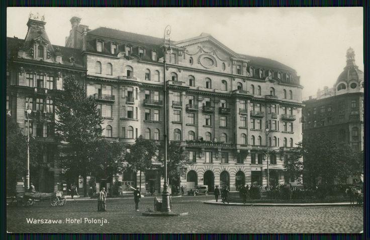Pocztówka: Hotel Polonja, Warszawa, wydawnictwo pocztówek K. Wojutyński (1930)