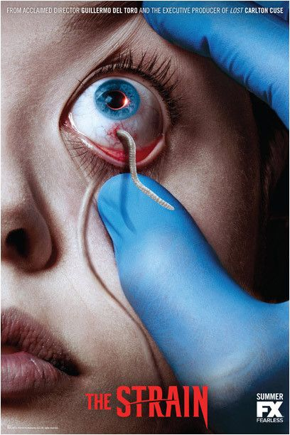"""""""The Strain"""" is a mostly successful attempt at serialized horror, adapted from the vampire novel of the same name by Guillermo del Toro and Chuck Hogan. It's a smart, fun, dark genre-buster combin..."""