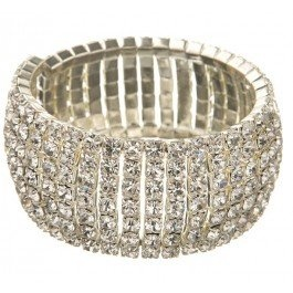 Stunning stretch cuff encrusted with beautiful diamantes.