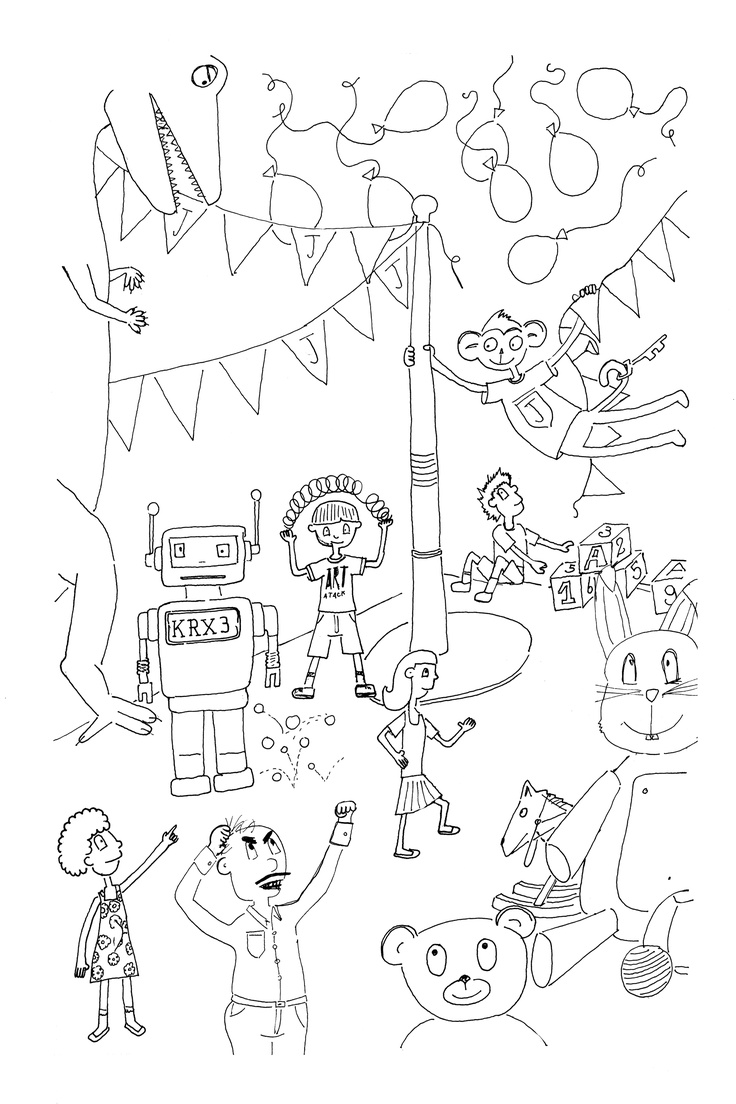 Bocetos para libro de ilustraci³n infantil Nano perdido en NY Historia e ilustraciones by