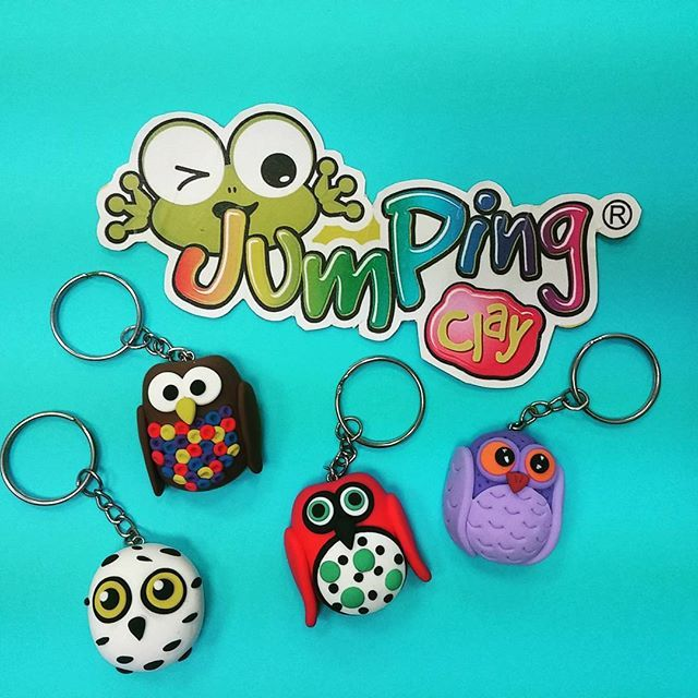 Baykuş anahtarlıklar #jumpingclay #jumpingclaytr www.jumpingclay.com.tr