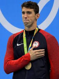 Michael Fred Phelps III, an American former competitive swimmer decorated Olympian of all time, total of 28 medals. Phelps holds the all-time records for Olympic gold medals individual events.  He has eight gold medals at the 2008 Beijing Games. As a American swimmer Mark Spitz's 1972 record of seven first-place finished at any single Olympic Games. In 2012 Summer Olympics in London, Phelps won four gold and two silver medals, and at the 2016 Summer Olympics in Rio de Janeiro.