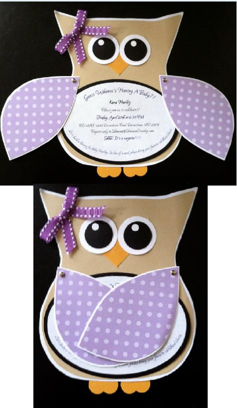 Owl invitation for New Beginnings