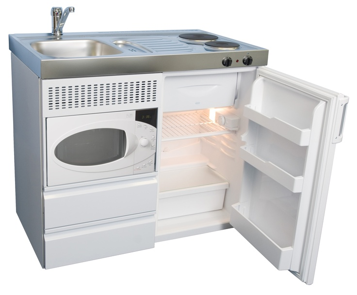 The Elfin Kitchens B 100 Economy, With Left Hand Bowl, Hotplate, Fridge