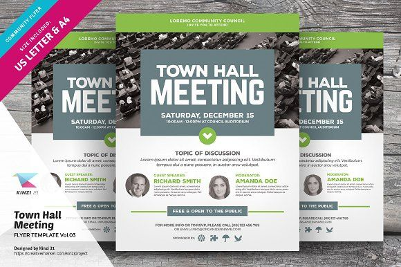 Town Hall Meeting Flyer Vol03 Flyers Flyer Templates