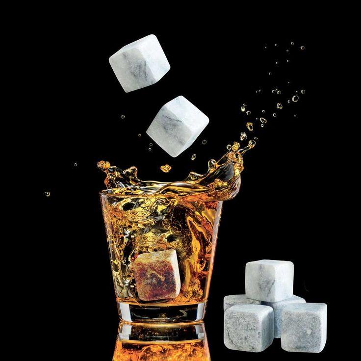 Eight Ice Stones to Chill Whiskey & Wine – Freezer Ice Stones – Unique Great Gift