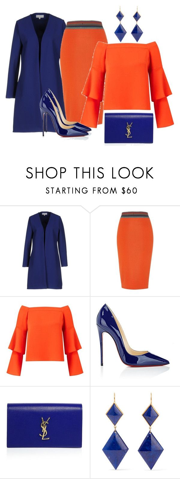 """""""314"""" by vicinogiovanna ❤ liked on Polyvore featuring Christies à Porter, River Island, Miss Selfridge, Christian Louboutin, Yves Saint Laurent and Marie Hélène de Taillac"""