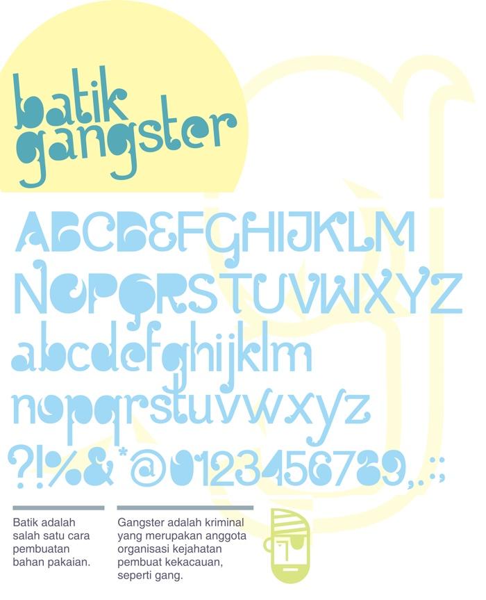 Batik Gangster font by Gunarta - FontSpace