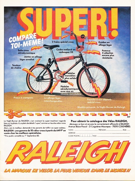 Pif. 765.Raleigh Burner BMX  . 1983 WordPress