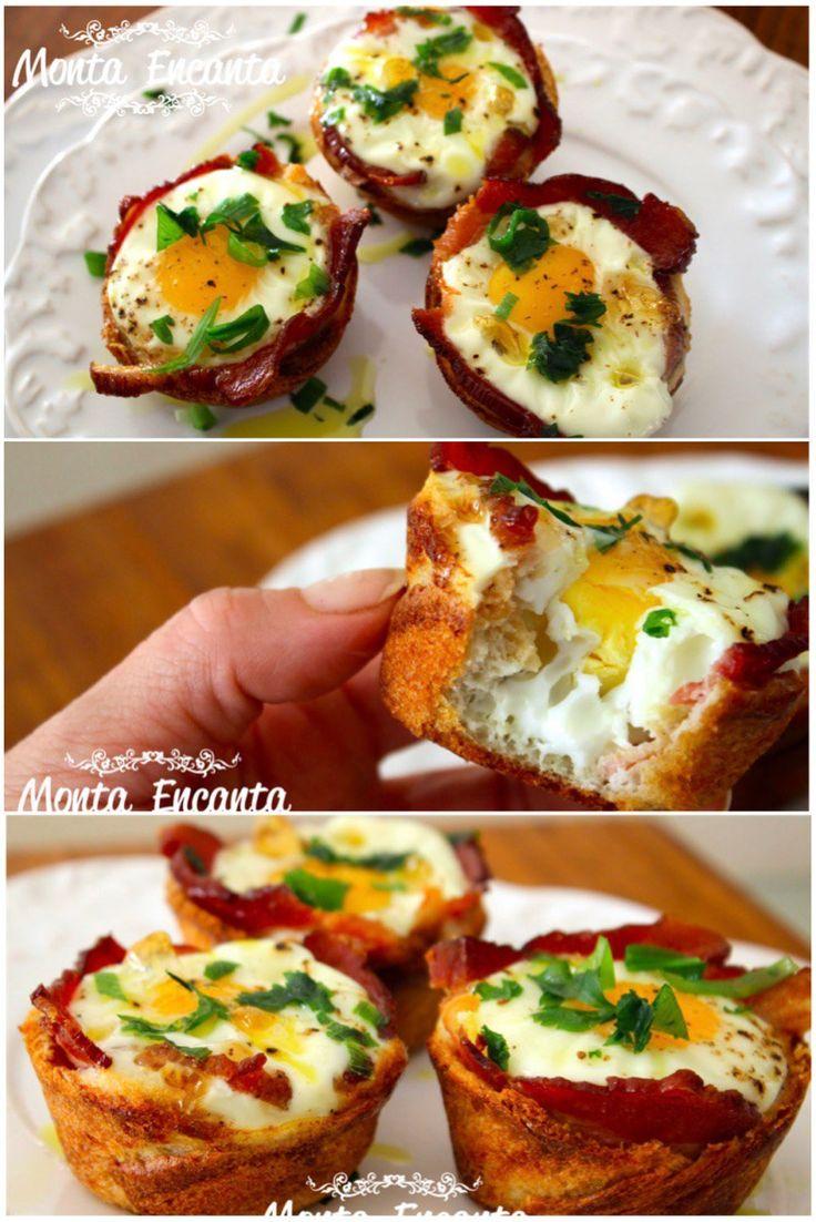 Que tal servir ovos saborosos embrulhados em um pequena cesta crocante de pão, envoltos por uma deliciosa fatia de bacon? Bem ao estilo americano? Muito fáceis de fazer, são a pedida ideal para um…