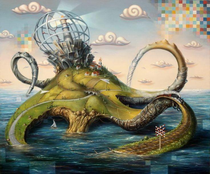 """Dariusz ŚLUSARSKI - """"Octopus"""" - Obrazy, malarstwo współczesne, galeria sztuki Bielsko Biała"""