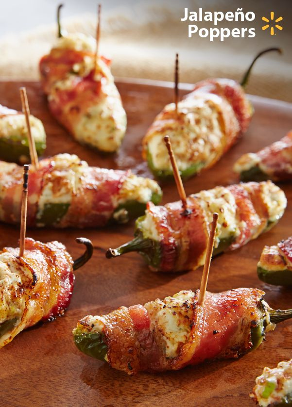 Everyone loves Jalapeno Poppers! Easily prepare this classic football party finger food w/ just a few ingredients: bacon, queso fresco & cream cheese. Pop these appetizers in the oven, or throw them on the grill to spice up your tailgate.